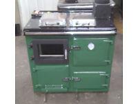 Woodburning Central heating rebuilt cooker,guaranteed in GREEN enamel