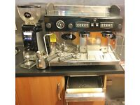Rijo 42 Silvestre 2 Group,coffee machine & grinder perfect condition for coffee shop