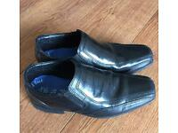 Boys Smart Formal Black Leather Shoes Size 1