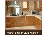 Walnut shaker kitchen units and extras