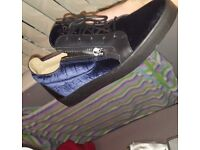 Mens new suede blue guissepes size 9