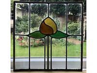 Vintage leaded window pane