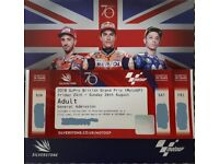 2018 Moto GP British Grand Prix Adult General Admission Weekend Ticket x1. Fri 24 - Sun 26 August
