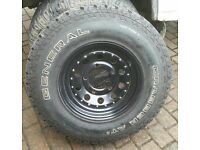 General Graber AT2 tyre, tire, wheel and tyre, Land Rover 4x4 235/85/16 wanted