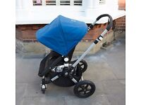 Bugaboo Cameleon 3 pushchair with footmuff & raincover in petrol blue