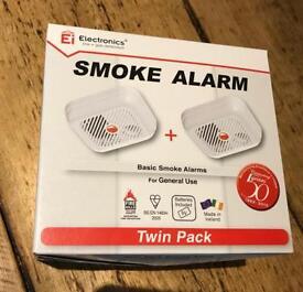 Ei Electronics Smoke Alarms Twin Pack