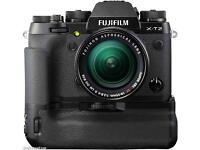 Fujifilm x-t2 power battery booster grip and 18-55 lens