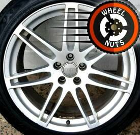 "20"" Genuine Audi Q5 alloys good cond 2 good tyres."
