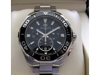 Tag Heuer Aquaracer Chronograph Gents Watch Black CAY111A