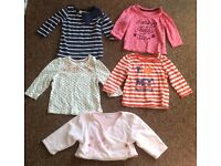 Baby bundle of girls clothes age 3-6 months 28 items leggings, tops £5 the lot