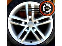 """18"""" Genuine Audi Twin Spoke S Line alloys, good condition with tyres."""