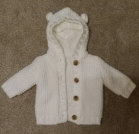 Baby knitted jacket First Size by George excellent condition