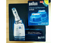 Shaver Electric Braun Pulsonic Clean and Renew Silver