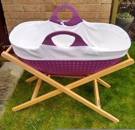 """LESS THAN HALF PRICE """"MOBA"""" MOSES BASKET - modern alternative to baby carry cot or crib"""