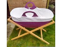 "LESS THAN HALF PRICE ""MOBA"" MOSES BASKET - modern alternative to baby carry cot or crib"
