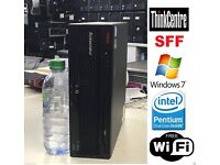 Lenovo ThinkCentre USFF Supersmall PC 2GB 160GB WINDOW 7, Intel Dual Core. WIFI