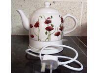 Dunelm Ceramic Poppy Kettle