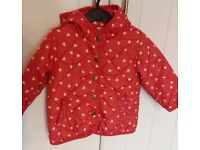 Girls Next coat aged 12-18 months