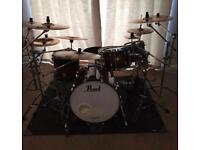 Pearl Masters Premium Legend Drum Kit with Hardware & Cymbals