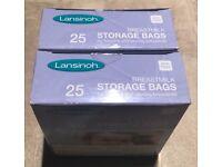 Lansinoh breast milk bags x 2 NEW