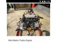 Classic mini metro turbo engine