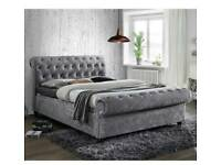 New chesterfield upholstery design bed in all colours
