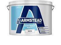 Armstead Paint Contract Matt Emulsion 15L Interior Walls White