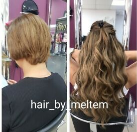London Mobile Hairdresser hair extension,colour,keratin,nano- micro ring,keratin bond,tapein