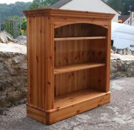 Solid Pine Bookcase With Two Adjustable Shelves