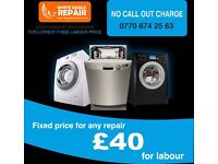5* Washing machine repair, oven repair, dishwasher repair, hob repair, hood