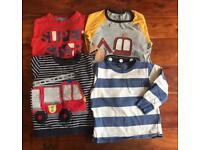 Kids tops 2-3yrs, 4x long sleeve & 3x T-shirts