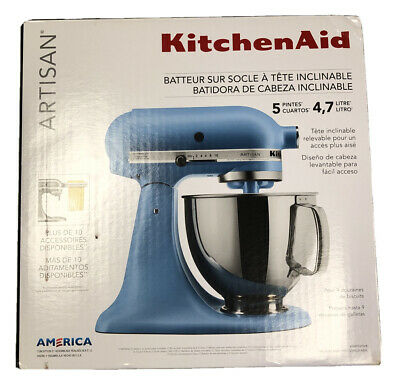 NEW KitchenAid Artisan Series 5 Quart Tilt-Head Stand Mixer Matte Velvet Blue