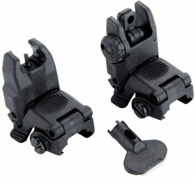 Gen2 Front and Rear Flip Up Sights Fit For MBUS MAG247BLK/MAG248BLK