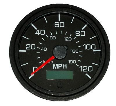 "GPS Speedometer, 3-3/8""/86mm,120 MPH,LED light,black/black,001-SP-BB/GPS"