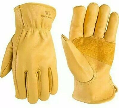 Wells Lamont Mens Reinforced Leather Work Gloves With Palm Patch Medium