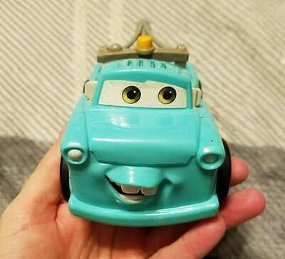 Disney Pixar Cars Mater Shake N Go Retro Green Tow Truck Talking Fisher Price