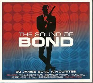 THE SOUND OF BOND 60 JAMES BOND FAVOURITES Inc THE THEME, SKYFALL & MANY MORE