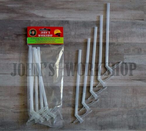 Five Expanding Insulation Sealant Dispenser Straws - Great Stuff Foam Nozzles