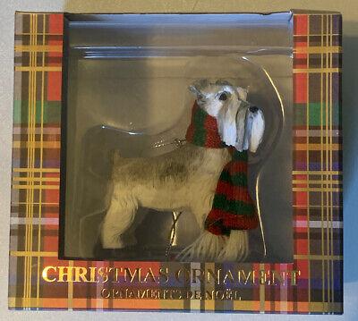 NEW Sandicast Schnauzer UC Gray Dog Breed Christmas Tree Ornament 2.75