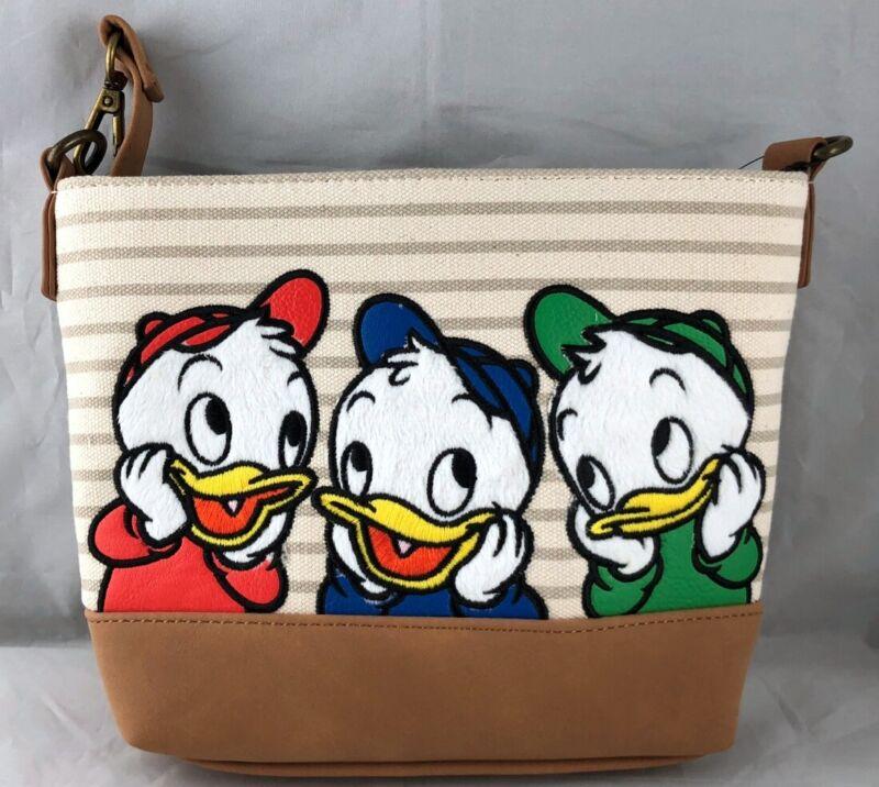 Disney Parks Loungefly Huey Dewey Louie Duck Tales Shoulder Bag Crossbody NEW
