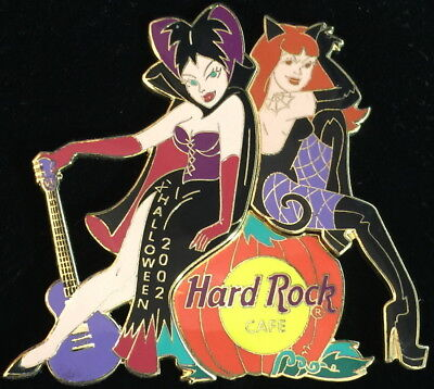 Hard Rock Cafe ONLINE 2002 HALLOWEEN 2 PIN Boxed Vampire Girls LE 500 HRC #15667 ()