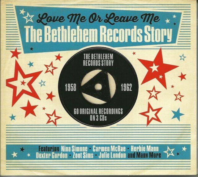 LOVE ME OR LEAVE ME THE BETHLEHEM RECORDS STORY - 1958 - 1962 - 3 CD BOX SET