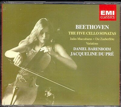 BEETHOVEN - 5 Cello Sonatas / Variations - Jacqueline DU PRE / BARENBOIM - 2CDs, used for sale  Shipping to South Africa
