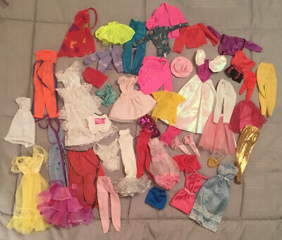 Large 47 Piece Lot Vintage 70s 80s 90s Barbie Clothing Mattel Maybe Some Clone