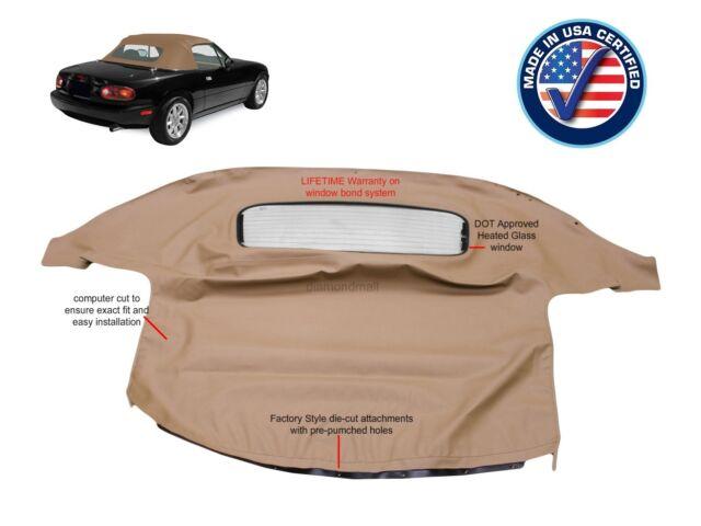 MAZDA MIATA Convertible Soft Top & Heated Glass Window TAN Cabrio 1990-2005