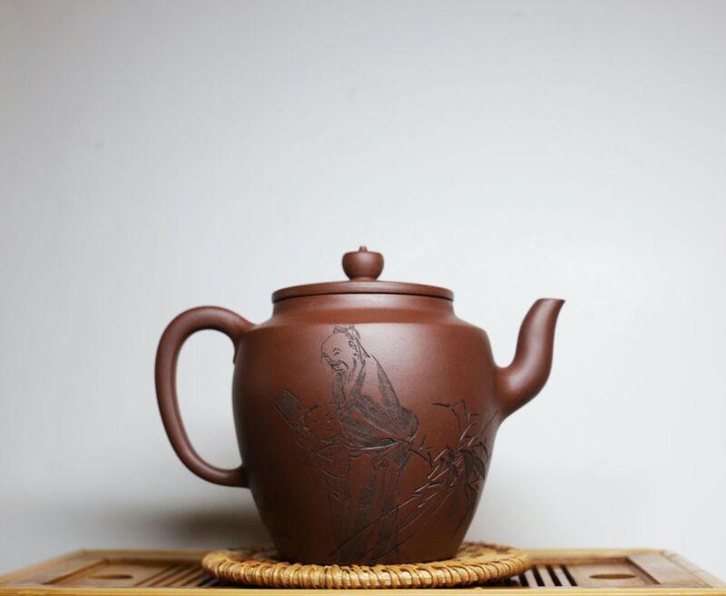 500cc collective Yixing zisha 研高工/陶刻大师 Handmade 大品怀古 teapot certificate 何忍群