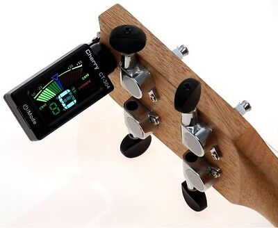 Clip on Tuner Neu LCD Digital Gitarren Stimmgerät inkl. Batterie! Top