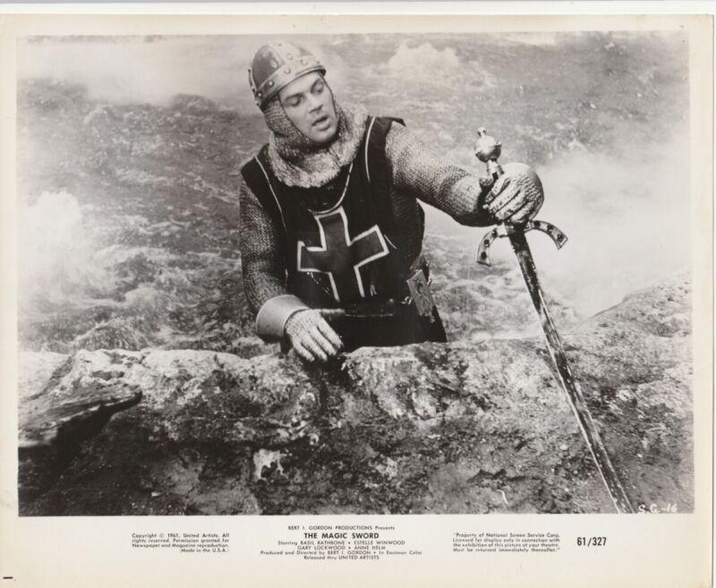 """Original 8x10 B&W Still """"The Magic Sword"""" (1961)"""