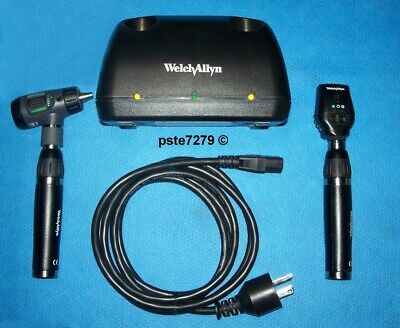 Welch Allyn 71641-ms Lithium Ion Desk Charger Set Macroview Coaxial Heads