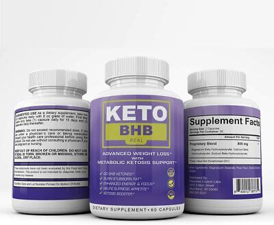 KETO BHB REAL-ADVANCED WEIGHT LOSS 3 MONTH 180 CAPSULES **FAST SHIPPING**